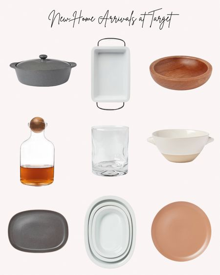 New home decor, kitchen and dining arrivals at Target. Glasses, decanter, bowls, serving platter, serving dish, baking dishes, fall, holidays  Follow me for more ideas and sales.   Double tap this post to save it for later.   #LTKHoliday #LTKSeasonal #LTKunder50