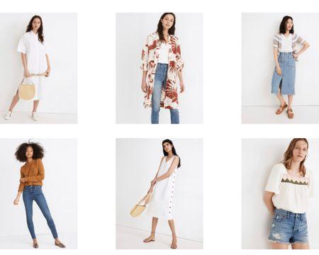 Madewell sale Use code PSST to get extra 30% off sale White oversized midi shirt Summer outfits  Vacation outfits Denim skirt Midi skirt Midi dress   http://liketk.it/3k0ig #liketkit @liketoknow.it #LTKsalealert #LTKunder50 #LTKstyletip e