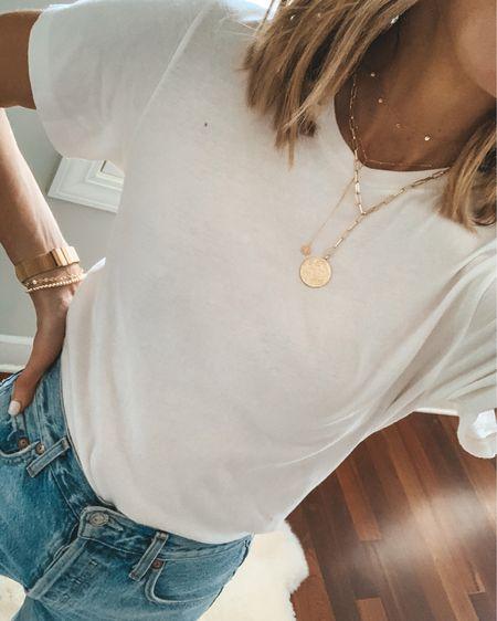 Favorite white T-shirt under $20 wearing size small http://liketk.it/3ihmu #liketkit @liketoknow.it #LTKunder50