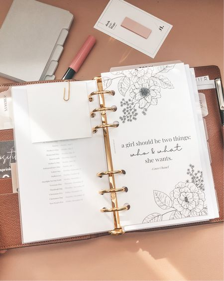Sharing my planner must haves later today on LeahCarolyn.com   #StayHomeWithLTK #LTKhome #LTKVDay