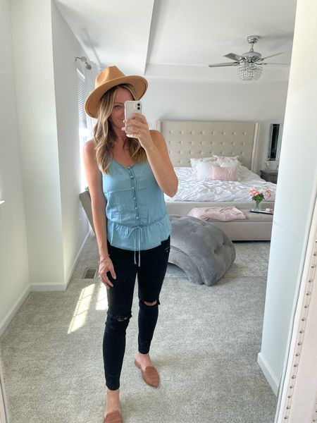 Love this tinsel top! Use heatherg15 for a discount over @shopstriped  #LTKshoecrush #LTKstyletip #LTKunder50