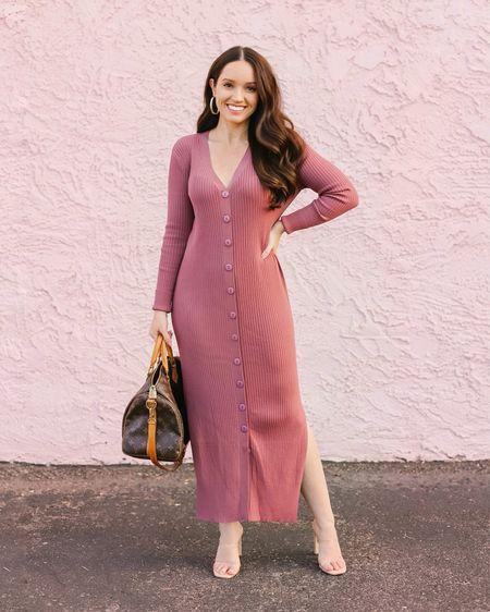 This rib knit duster cardigan doubles as a sweater dress 💗   #LTKstyletip #LTKworkwear #LTKSeasonal