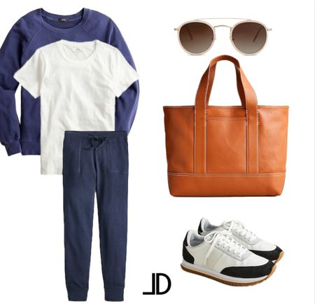Casual Outfits to transition to fall  Travel outfit, airport outfit, travel wear   Cashmere cotton knit sweater, white t shirt, cashmere joggers, sneakers, leather tote, antique aviators      Follow me and style with me! I am so glad and grateful you are here!🥰 @lindseydenverlife 🤍🤍🤍     _____ outfits for fall fall outfits cute fall outfits fall outfits 2021 womens fall outfits fall outfits for women fall outfits ideas, casual outfits fall, casual fall outfits, fall casual outfits #Laurenkaysims #laurabeverlin #champagneandchanel #emilyandgemma #dressupbuttercup #almost_readyblog #jcrew #jcrewstyle #jcrewfactory #jcrewaddict #jcrewalways #jcrewaccessories Follow my shop on the @shop.LTK app to shop this post and get my exclusive app-only content!  #liketkit  @shop.ltk http://liketk.it/3kZQ4 Follow my shop on the @shop.LTK app to shop this post and get my exclusive app-only content!  #liketkit  @shop.ltk http://liketk.it/3kZVB
