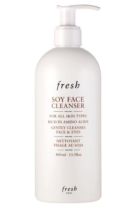 This is the single best cleanser ever! I love it because it's so gentle, and it helps keep my skin clear without feeling stripped which is huge for me. I have dry skin and acne so finding the right balance is really hard. This soy face cleanser from fresh ticks all the boxes for me! #freshbeauty #fresh #summerskincare #cleanser #cleanbeauty   #LTKunder100 #LTKSeasonal #LTKbeauty