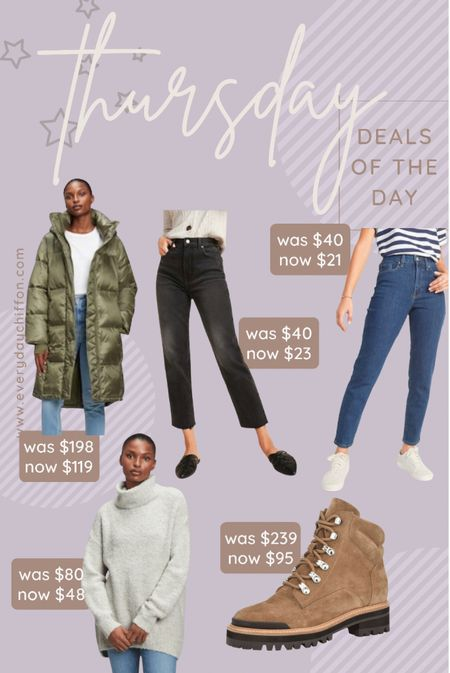 Winter coat, winter jacket Jeans, old navy style, Gap Hiking boots, hiking outfits, hiking outfit, turtleneck sweater, fall outfits   #LTKSeasonal #LTKGiftGuide #LTKshoecrush