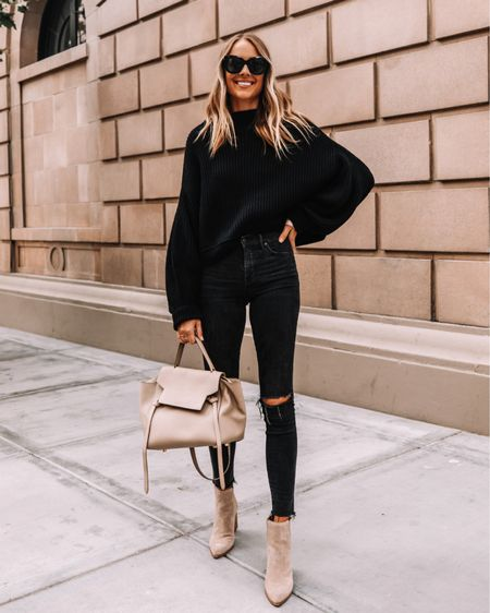 Love an all black outfit for fall! #falloutfit #booties   #LTKunder50 #LTKunder100 #LTKstyletip