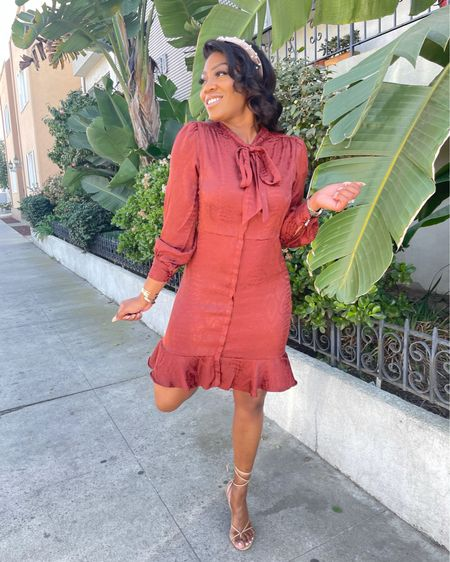 This snakeskin dress is the cutest thing! Love these burnt oranges for any spring or dummer date night outfit. Currently $50% off!   #LTKworkwear #LTKSeasonal #LTKsalealert #LTKSpringSale http://liketk.it/39KCy #liketkit @liketoknow.it