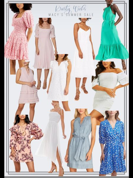 Macy's is having a huge sale right now! I found so many cute everyday summer dresses even some more formal ones for summer weddings, engagement shoots, or baby's showers! Happy shopping 🛍 #LTKsalealert #LTKunder100 #LTKwedding http://liketk.it/3gKNF #liketkit @liketoknow.it