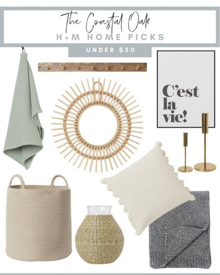 Loving the new arrivals from H+M! So many good finds under $50 for summer to fall home decor.   #LTKhome #LTKunder50