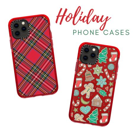 Anyone else even decorate with their phone case? I found a few fun, festive #phonecases (and they're customizable) for the holiday season! #ltkholiday   #LTKunder50 #StayHomeWithLTK #LTKhome
