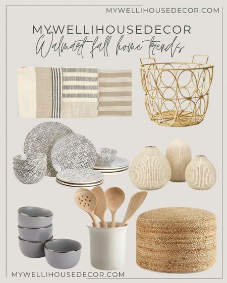 Walmart home Fall Trends: create extra visual interest in your kitchen with pattern and prints.  Create the perfect fall home with these trendy designs, at amazing prices.  Loloi, boutique rugs, cane furniture, olive tree, bowls, plates, magnolia, pottery barn, pampas, table runner, Target, pumpkins, garland, couch, amazon home, lamp, target finds, wayfair finds, dining table, dining chair, serving ware, brass dining chairs, black dining chairs, amazon home finds, restoration hardware, modern farmhouse, studio mcgee, area rugs, joss and main, walmart home, meridian home, Black lamps, coffee table, accent table, ceiling lights, couch, sofa, side chair, Amber lewis, living room, dining room, family room, organic modern, chandelier.  #LTKSale #LTKhome #LTKsalealert