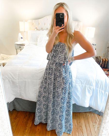 Amazon maxi dress! Cute spring dresses, spring outfits, wearing size small http://liketk.it/3c4sD #liketkit @liketoknow.it #amazonfinds #amazonhaul #LTKunder50 #LTKstyletip