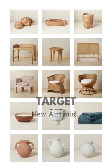 New collection arrivals at Target! Target opal house, neutral decor, vases, rattan furniture, wicker baskets   #LTKsalealert #LTKhome #LTKunder50