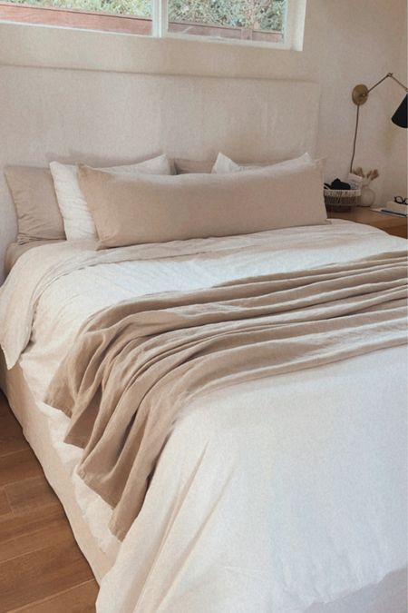 New percale bedding for spring 🤍 http://liketk.it/3bCwi @liketoknow.it #liketkit