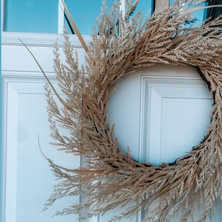 Beautiful Target fall wreath. VBS be used flat for table decor, propped against a mantle mirror or on the front door   #LTKunder50 #LTKhome #LTKSeasonal