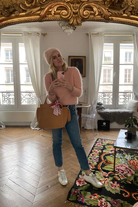 Causal winter jeans sneakers and sweater http://liketk.it/36Upj #liketkit @liketoknow.it