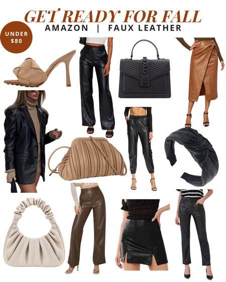 Get ready for fall - faux leather   #LTKunder100 #LTKSeasonal #LTKstyletip