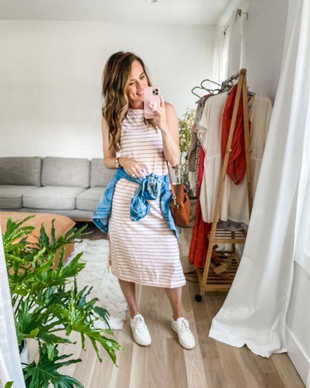 Blurry pic.  Super comfy midi dress. Got my regular size.    http://liketk.it/3h8Kv #liketkit @liketoknow.it