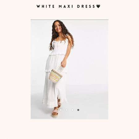 White ankle dress we love to wear.. pay attention it's a petit so less longer then regular.. all measurements are findable.💭🤍  #LTKSale #LTKeurope #LTKHoliday