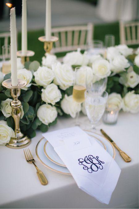 Monogram wedding napkins.   #LTKwedding #LTKunder50 #LTKhome
