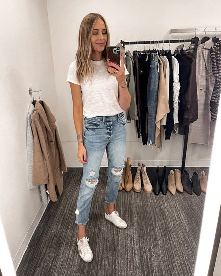 These jeans are a little shorter than most of the jeans I pick up, but I wanted to get them because they're such a lightweight denim but really soft! They don't have any stretch. I'm wearing a size 25 and they fit TTS. #liketkit #nsale #nordstromanniversarysale #nordstromsale  #LTKsalealert #LTKunder100 #LTKstyletip