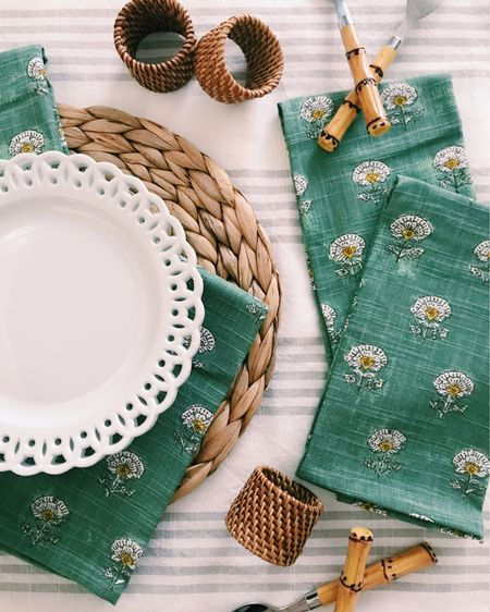 crushing on this springtime palette with soft green, white, and rattan!    #liketkit @liketoknow.it #LTKSeasonal #StayHomeWithLTK #LTKhome You can instantly shop all of my looks by following me on the LIKEtoKNOW.it shopping app  http://liketk.it/371cN