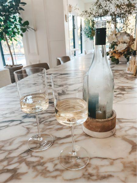 Wine glasses and wine coaster