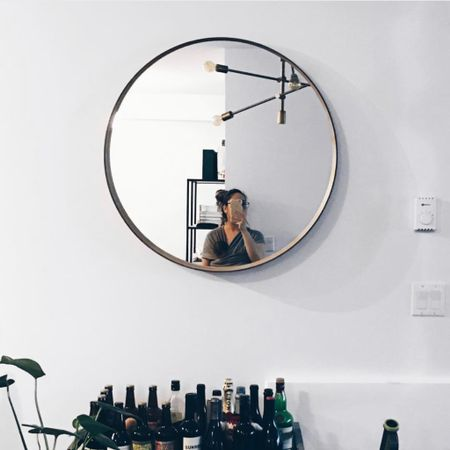 Can't seem to find this light anymore from West Elm but at least I found this round mirror!    Shop your screenshot of this pic with the LIKEtoKNOW.it shopping app http://liketk.it/3gffH #liketkit @liketoknow.it #LTKDay #LTKfamily #LTKhome @liketoknow.it.home @liketoknow.it.brasil @liketoknow.it.europe @liketoknow.it.family