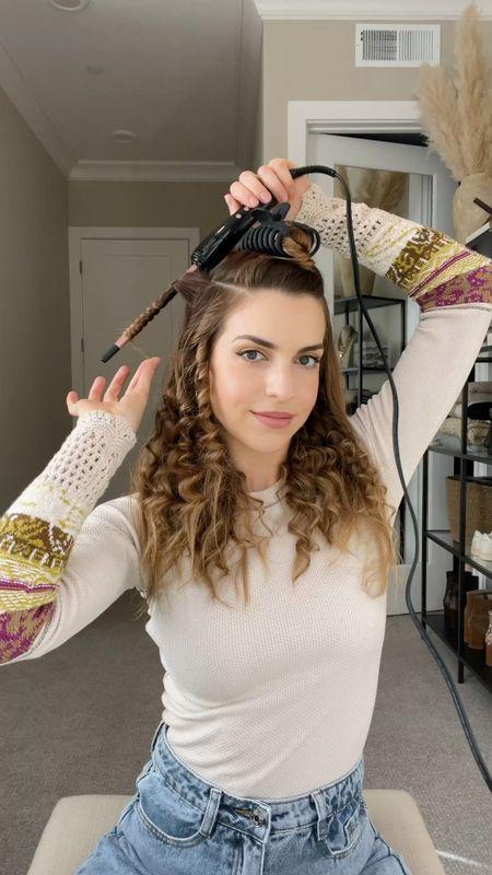 "Curly hair tutorial using a 3/10"" curling wand 💁♀️  #LTKbeauty #LTKunder50 #StayHomeWithLTK"