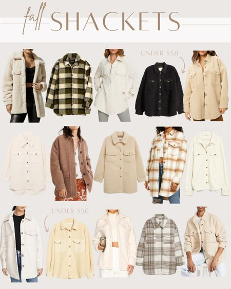Fall shackets and shirt jackets   #LTKunder100 #LTKunder50 #LTKSeasonal