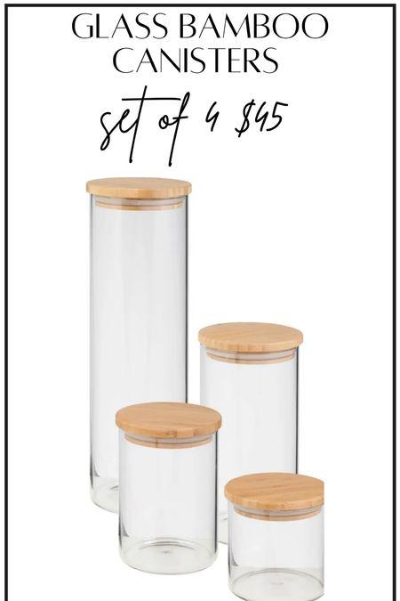 Glass storage canisters #thedailydupes  #LTKunder50 #LTKhome #LTKGifts