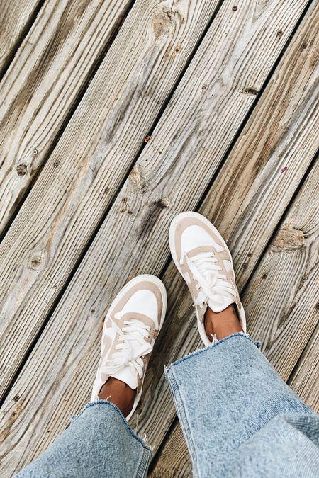 Last nights OOTD! Linked some similar tan and white sneakers.   #LTKunder100 #LTKshoecrush #LTKstyletip
