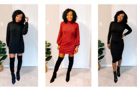 Mock neck Sweater Dresses http://liketk.it/35IU5 #liketkit @liketoknow.it