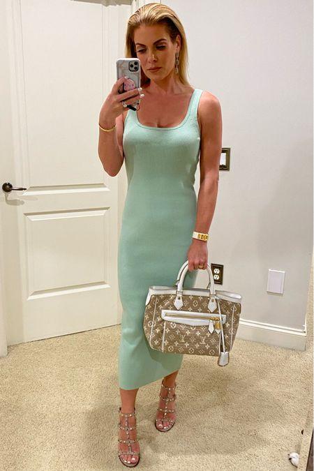 #tankdress #summerdress #daytoevening #rockstud #greendress #pastel #weddingattire #timelessfashion #classicwardrobe # @liketoknow.it #liketkit http://liketk.it/3h9Fp vacationoutfits #vacationtraveloutfits #maxidress #summeroutfits #weddingguestdress    #LTKwedding #LTKcurves #LTKworkwear