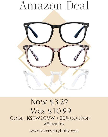 Amazon deals! 👓  3Pack blue light Computer Game Glasses Square Eyeglasses Frame   Gift idea • Christmas gift • gifts for her • gifts for him  Gifts for teens • gifts for teen girls • gifts for teen boys •   50% off Code: KSKW2GVW + 20% coupon  #LTKunder50 #LTKGiftGuide #LTKsalealert