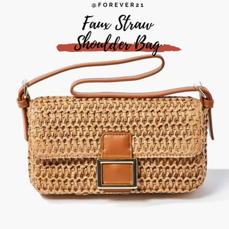 Faux Straw Shoulder Bag under $20 @forever21 #forever21 #summer http://liketk.it/3gPnw #liketkit @liketoknow.it #LTKitbag #LTKstyletip #LTKunder50