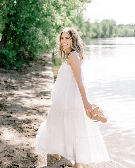 White sundresses maxi dress http://liketk.it/3gOCt @liketoknow.it #liketkit