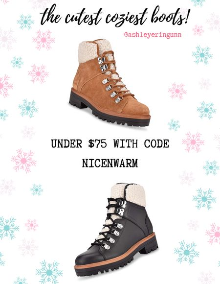 Love the look of these boots. So cozy and perfect for winter outfits!   UNDER $75 using code NICENWARM until 12/13!  #LTKsalealert #LTKshoecrush #LTKgiftspo