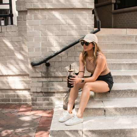 Just realized I'm also wearing a hat in my last two posts. Guess I'm a hat person now. 2020 with yet another surprise lol.  Aaaaaand, got a new blog post up - sharing some Amazon goodies you need ASAP, including this tank and cute glass tumbler 💫   ***  @liketoknow.it #liketkit #LTKunder100 #LTKstyletip #LTKunder50 http://liketk.it/2Wc4F