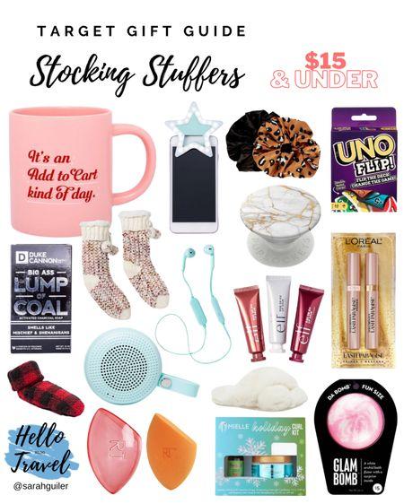 Stocking stuffers under $15! All from Target 🎯 Target gift guide. Target Christmas. Gift Guide. Holiday gift guide. Gift ideas. Christmas gifts. @liketoknow.it @liketoknow.it.family http://liketk.it/30S17 #liketkit #LTKbeauty #LTKfamily #LTKunder50 #LTKsalealert