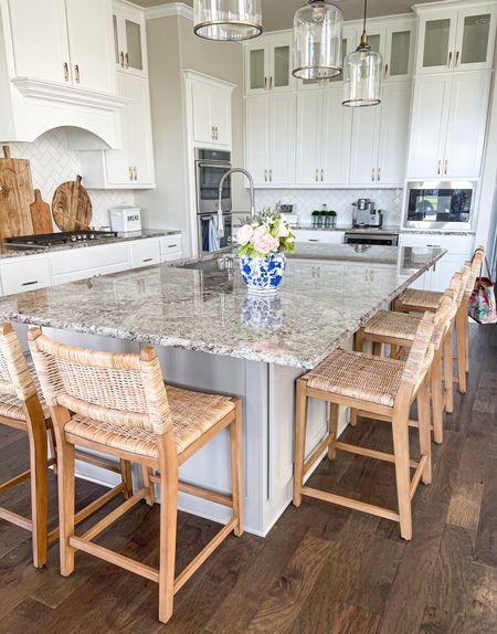 White kitchen // new kitchen // new home ideas // home decor // counter stools // bar stools   #LTKstyletip #LTKfamily #LTKhome