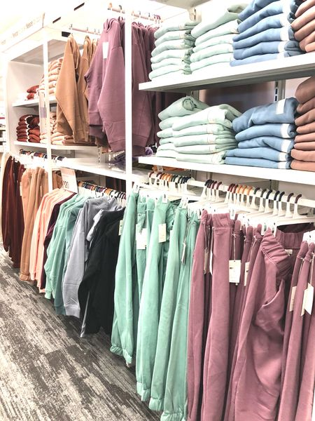 Target has all the cozy sweatpants and sweatshirts! Love the color options.  #LTKunder50 #LTKSeasonal