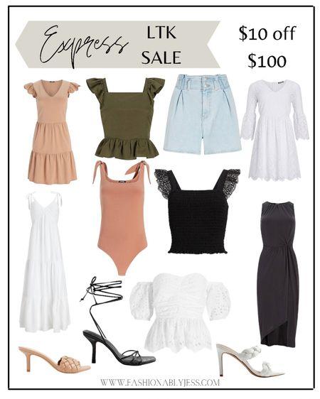 $10 off $100 at Express. http://liketk.it/3hblf #liketkit @liketoknow.it #LTKDay #LTKsalealert #LTKstyletip summer outfits, date night outfits, work attire, body suits, summer tops