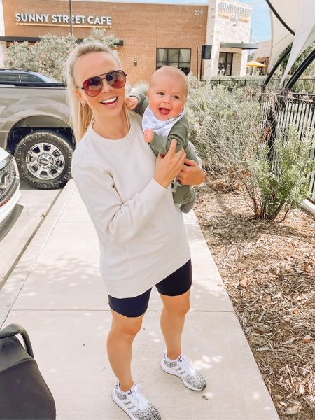 Fall outfit, fall baby outfit, bike shorts   #LTKstyletip #LTKfit #LTKunder50