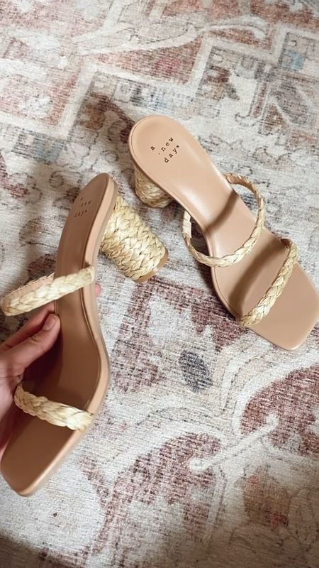Target sandals are 20% off right now! I just snagged these adorable natural woven double strap heeled sandals and they're originally only $30 before the sale! And come in a ton of other color options!    #LTKshoecrush #LTKunder50 #LTKsalealert @liketoknow.it http://liketk.it/3g5b7 #liketkit