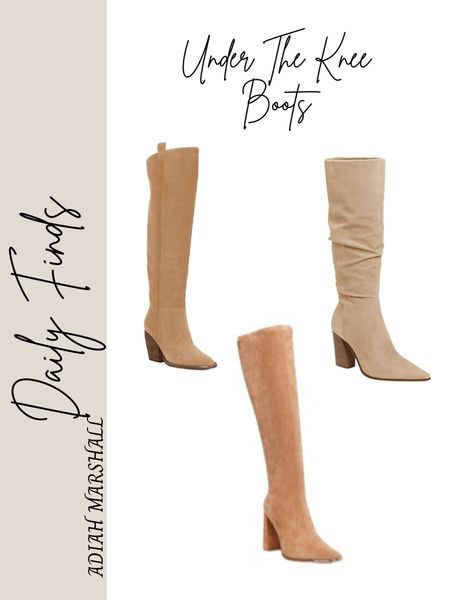 Under the knee boots! Ordered the Steve Madden ones in my true size!   #LTKHoliday #LTKSeasonal
