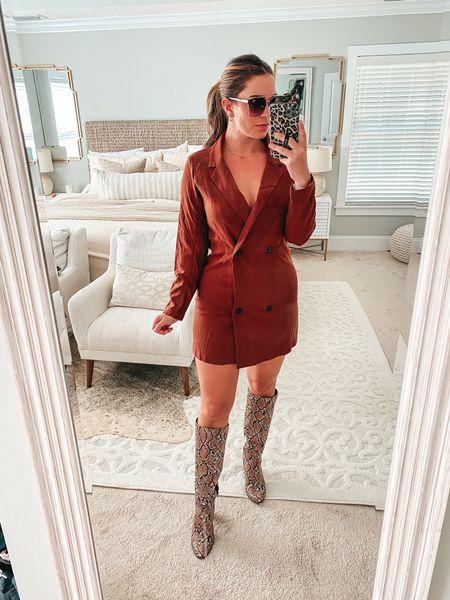 This blazer dress is 🔥  #LTKHoliday #LTKstyletip #LTKunder100