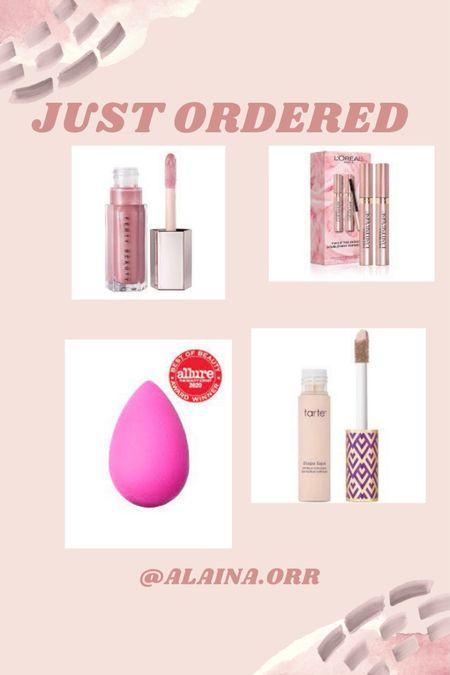 Just ordered beauty products!! use code FREESHIPCA for free shipping! #beauty #lipgloss #fenty #tarte #shapetape #concealer #beautyblender #beauty #mascara  #LTKbeauty