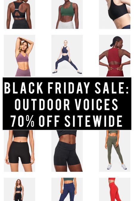 70% off Outdoor Voices sitewide for Black Friday! http://liketk.it/32kDx #liketkit @liketoknow.it #LTKgiftspo #LTKsalealert #LTKunder100