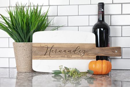 Personalized cutting board, makes a great gift!   Walmart home, target home, cleaning, clean home, dream home, under 50, daily deals, 5 stars, amazon finds, amazon deals, daily deals, deal of the day, dotd, bohemian, farmhouse decor, farmhouse, living room, master bedroom, holiday gifts, kitchen decor   💕Follow for more daily deals, home decor, and style inspiration 💕  #LTKHoliday #LTKhome #LTKunder50